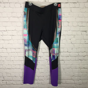 Fila Performance Sport Running Leggings Mesh Panel